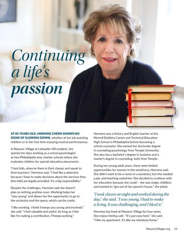 Page 15 of Continuing a Life's Passion