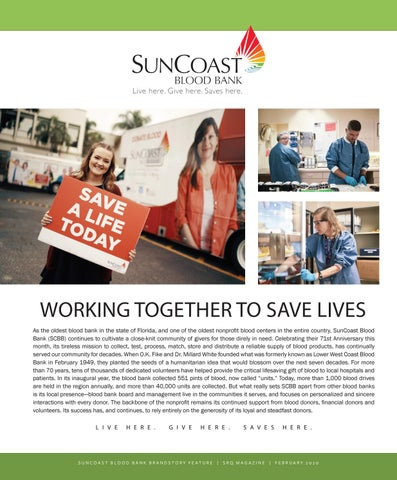 Page 1 of WORKING TOGETHER TO SAVE LIVES