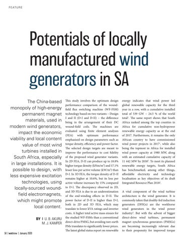 Page 50 of Potentials of locally manufactured wind generators in SA