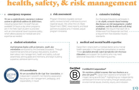 Page 19 of health, safety, & risk management
