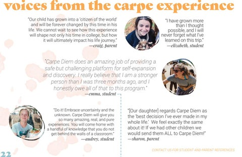 Page 22 of voices from the carpe experience
