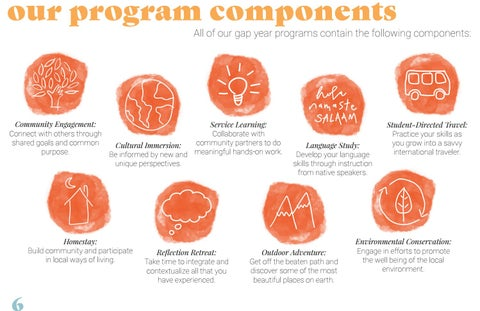 Page 6 of our program components