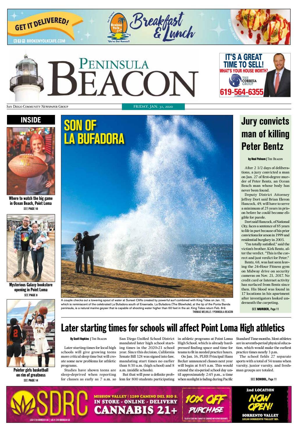 The Peninsula Beacon January 31st 2020 By San Diego Community Newspaper Group Issuu