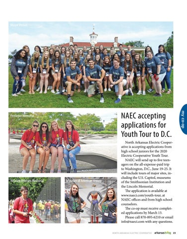 Page 2 of NAEC accepting  applications for  Youth Tour to D.C.