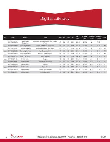 Page 10 of Digital Literacy