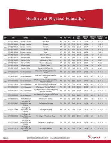 Page 11 of Health and Physical Education