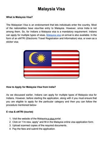 Malaysia Visa By Akshay Divate Issuu