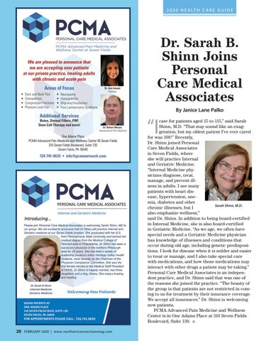 Page 22 of Dr. Sarah B. Shinn Joins Personal Care Medical Associates