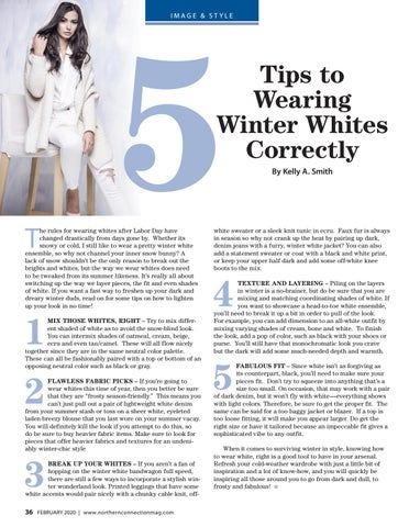 Page 38 of 5 Tips to Wearing Winter Whites Correctly Kelly A. Smith