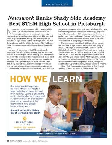 Page 40 of Newsweek Ranks Shady Side Academy Best STEM High