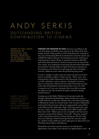 Page 79 of ANDY SERKIS – BAFTA'S OUTSTANDING CONTRIBUTION TO CINEMA