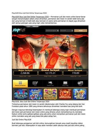 Play1628 Situs Judi Slot Online Terpercaya 2020 By Bolanavita77 Issuu