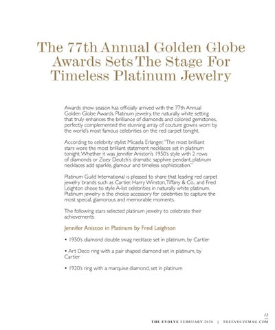 Page 13 of The 77th Annual Golden Globe Awards Sets The Stage For Timeless Platinum Jewelry
