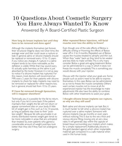 Page 31 of 10 Questions About Cosmetic Surgery You Have Always Wanted To Know