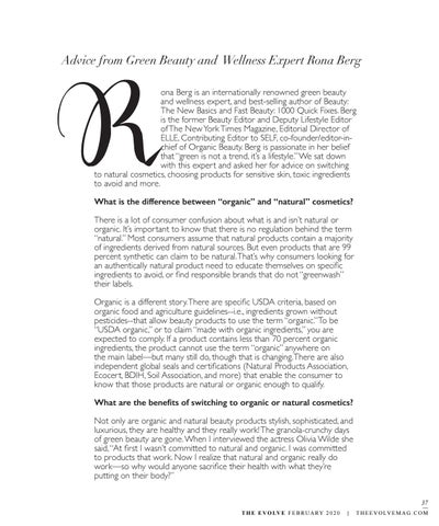 Page 37 of Advice from Green Beauty & Wellness Expert Rona Berg
