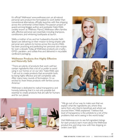 Page 41 of 'Wellnesse' All-Natural Personal Care Line Officially Launches Direct to Consumers