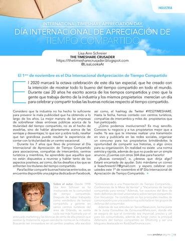 Page 21 of Día Internacional de Apreciación de Tiempo Compartido