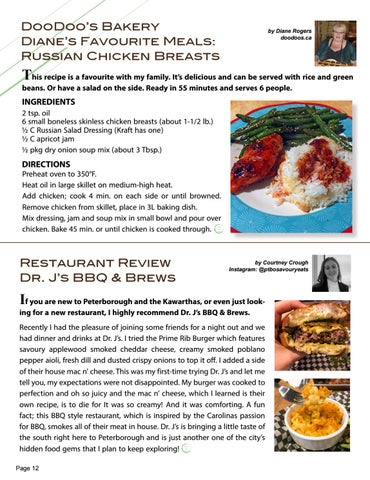 Page 12 of DooDoo's Bakery Diane's Favourite Meals: Russian Chicken Breasts