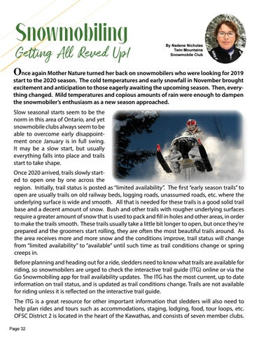 Page 32 of Snowmobiling - Getting All Reved Up!
