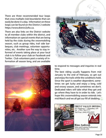 Page 33 of Snowmobiling - Getting All Reved Up!