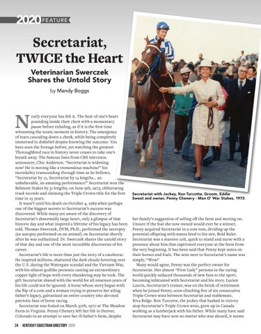 Page 26 of The Untold Story of Secretariat, from the Vet who Discovered His Secret