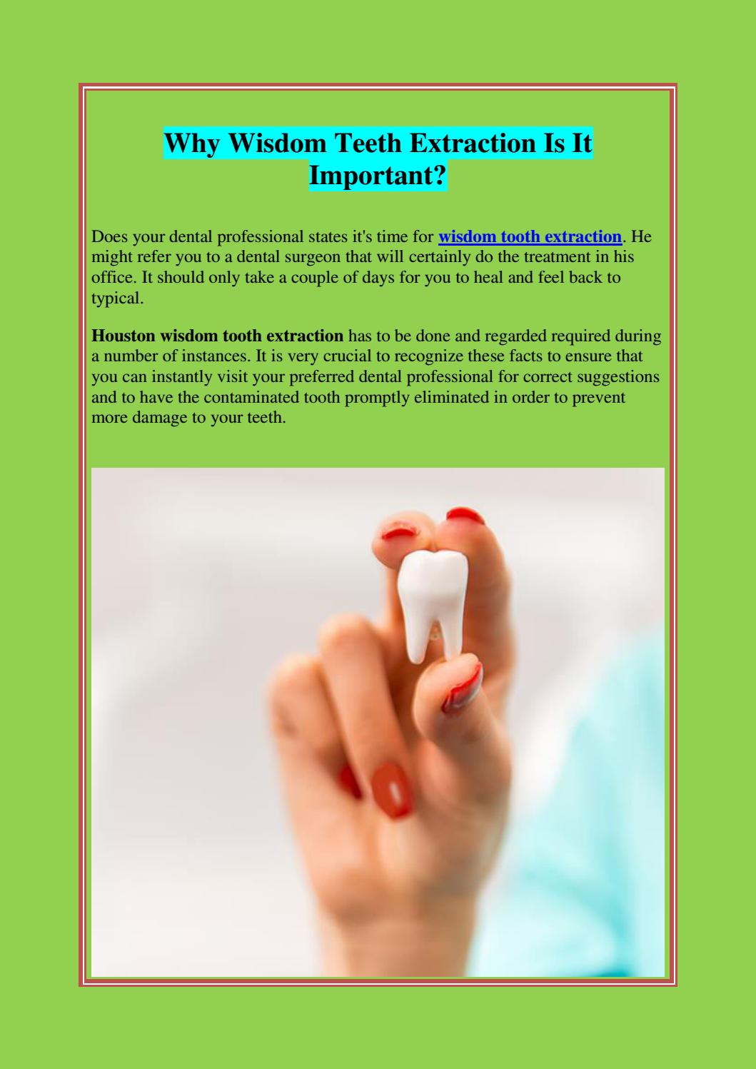 Why Wisdom Teeth Extraction Is It Important By Premiere Surgical Arts Issuu