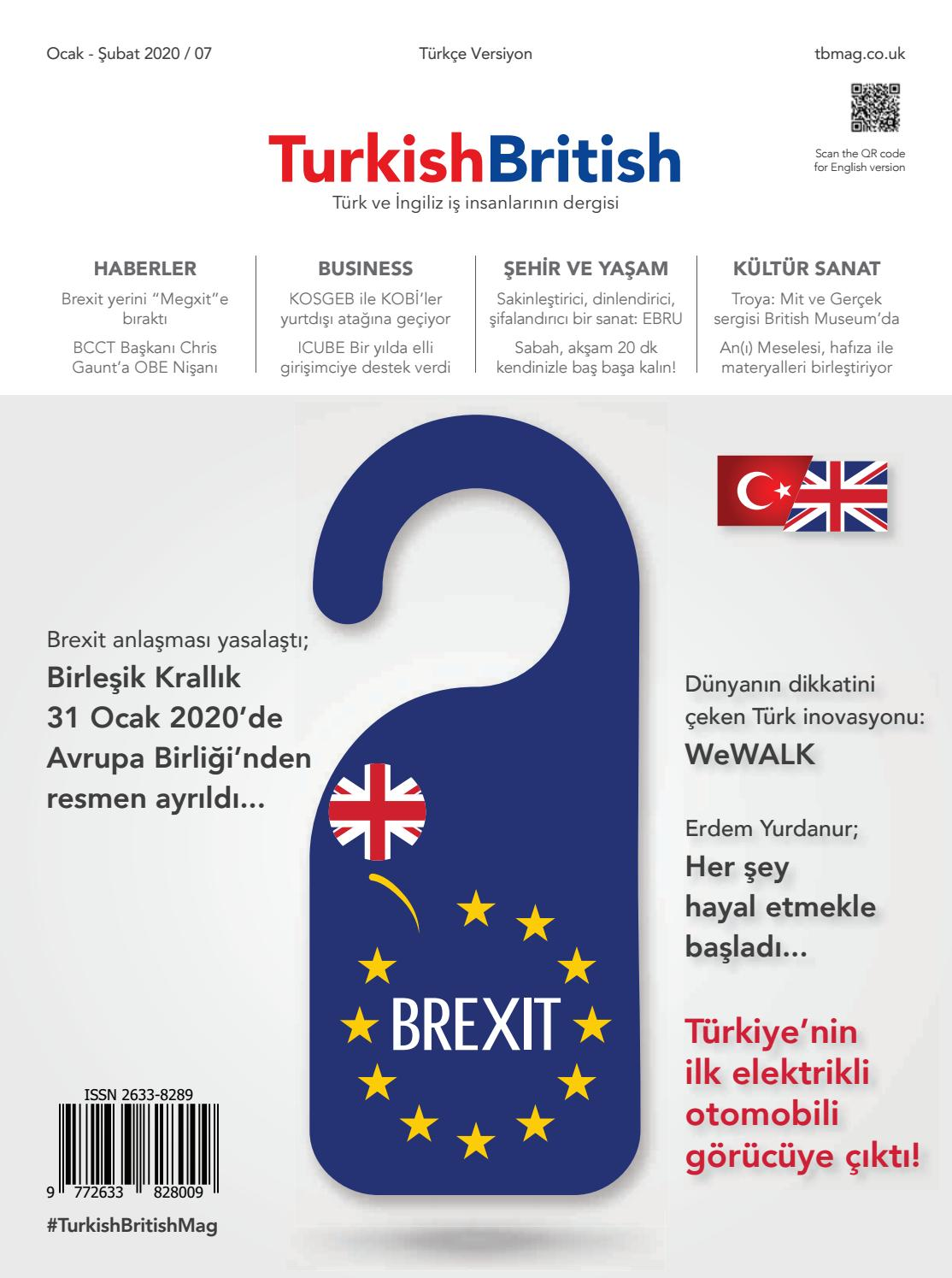 Turkish British Magazine I Ocak Subat 2020 By Afs Communication
