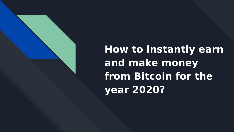 make money with bitcoin exchange