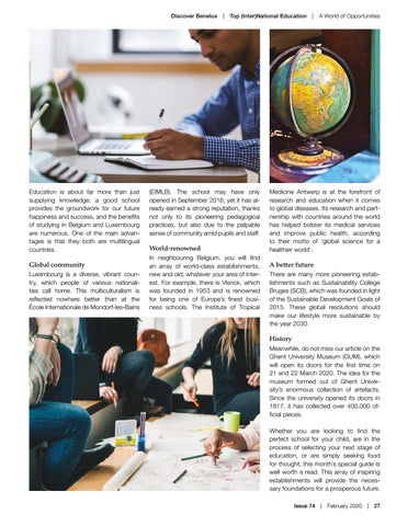 Page 27 of Top (Inter)National Education: A World of Opportunities