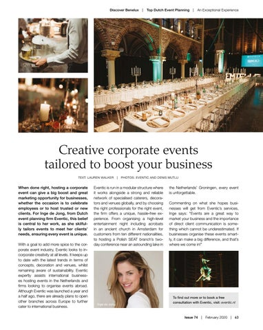Page 63 of Top Dutch Event Planning: An Exceptional Experience