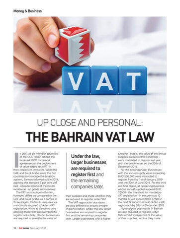 Page 38 of The Bahrain VAT Law
