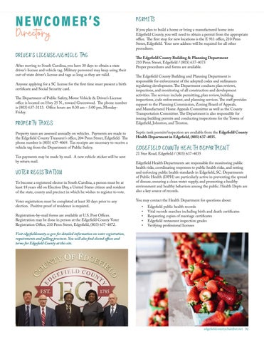 Page 33 of NEWCOMER'S DIRECTORY