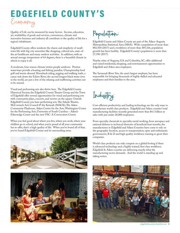 Page 9 of EDGEFIELD COUNTY'S ECONOMY