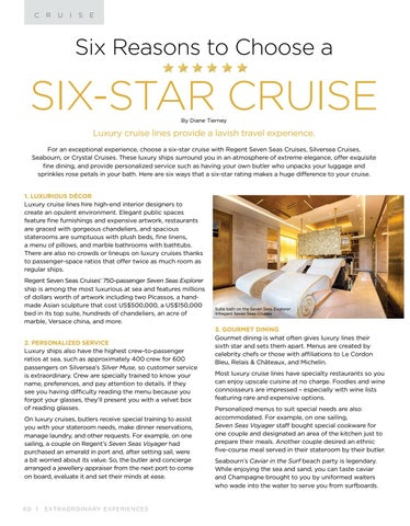 Page 60 of Six Reasons to Choose a Six- Star Cruise