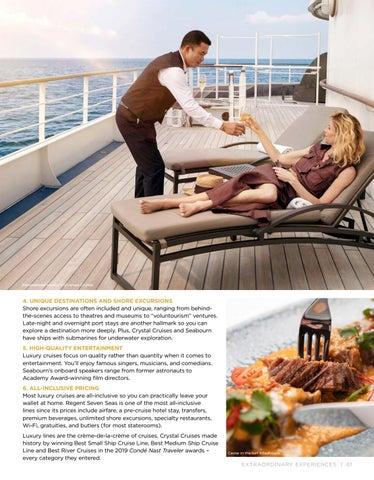 Page 61 of Six Reasons to Choose a Six- Star Cruise