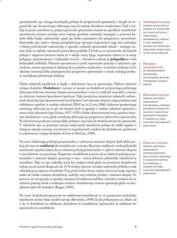Page 11 of Predmet in zgodovina razvojne psihologije Maja Zupančič