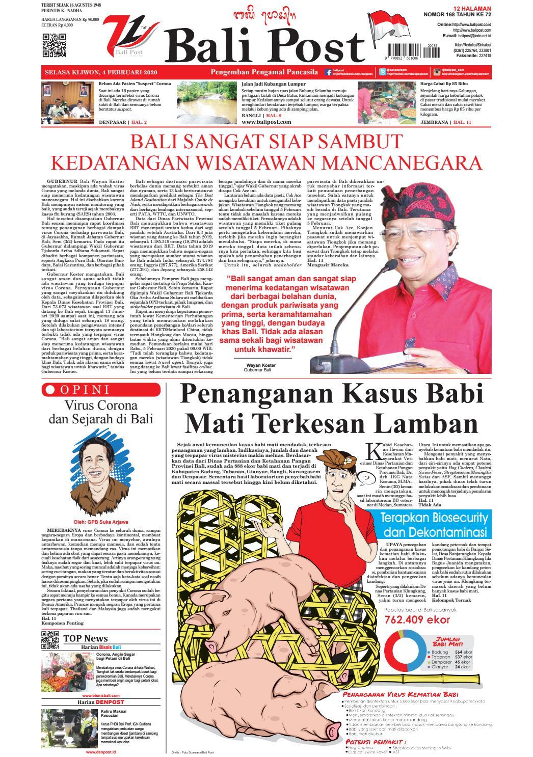 Edisi Selasa 4 Januari 2020