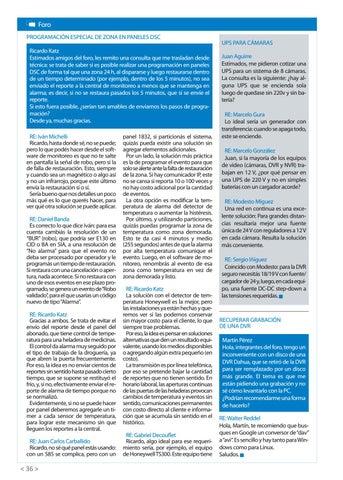 Page 38 of Programación especial de zonas en paneles de DSC UPS para cámaras Recuperar grabación de una DVR