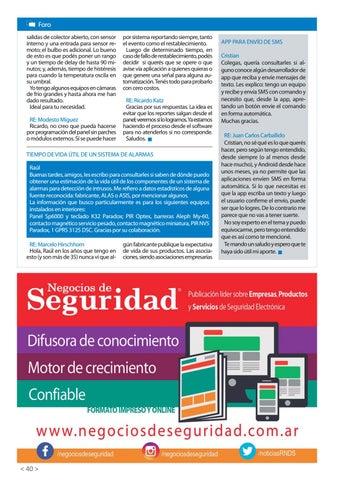 Page 42 of APP para envío de SMS Tiempo de vida útil de un sistema de alarmas