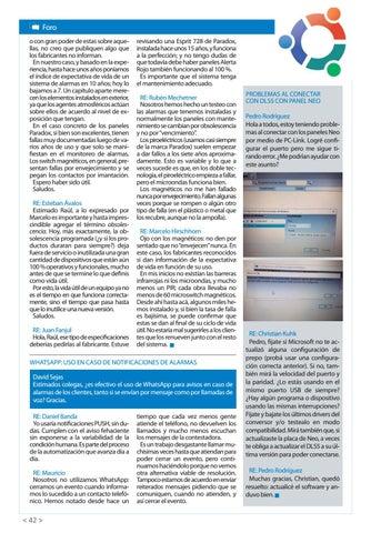 Page 44 of Problemas al conectar con DLS5 con panel NEO WhatsApp: uso en caso de notificaciones de alarmas