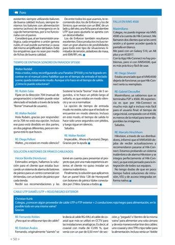 Page 52 of Falla en iVMS 4500 Tiempo de entrada sonoro en Paradox SP5500 Solución a botones de pánico cableados Cable UTP siamés (UTP + rojo/negro) exterior