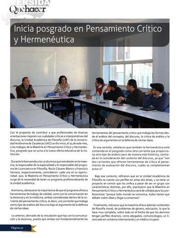 Page 10 of Inicia posgrado en Pensamiento Crítico y Hermenéutica