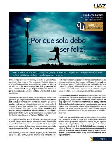 Page 15 of Psicología al aire, ¿Porqué debo solo ser feliz?