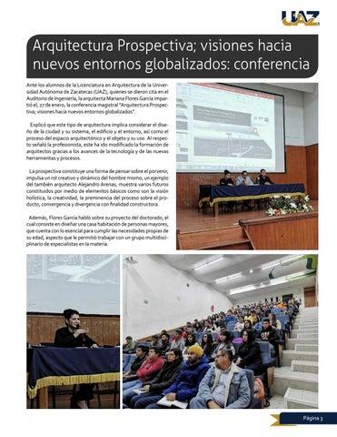 Page 3 of Arquitectura Prospectiva; visiones hacia nuevos entornos globalizados: conferencia