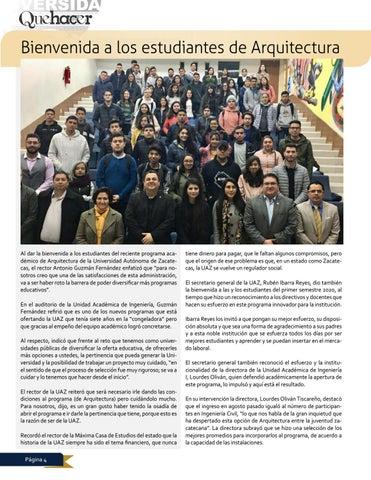 Page 4 of Bienvenida a los estudiantes de Arquitectura