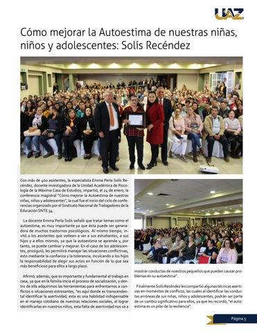 Page 5 of Cómo mejorar la Autoestima de nuestras niñas, niños y adolescentes: Solís Recéndez