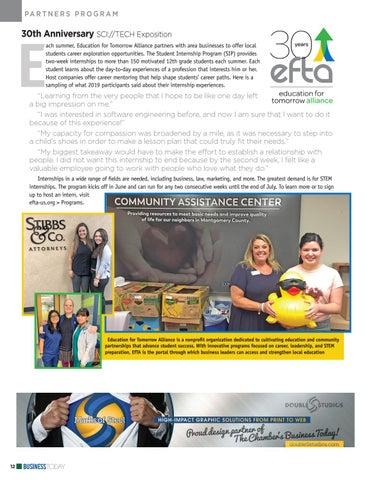 Page 12 of EfTA: 30th Anniversary SCI://TECH Exposition