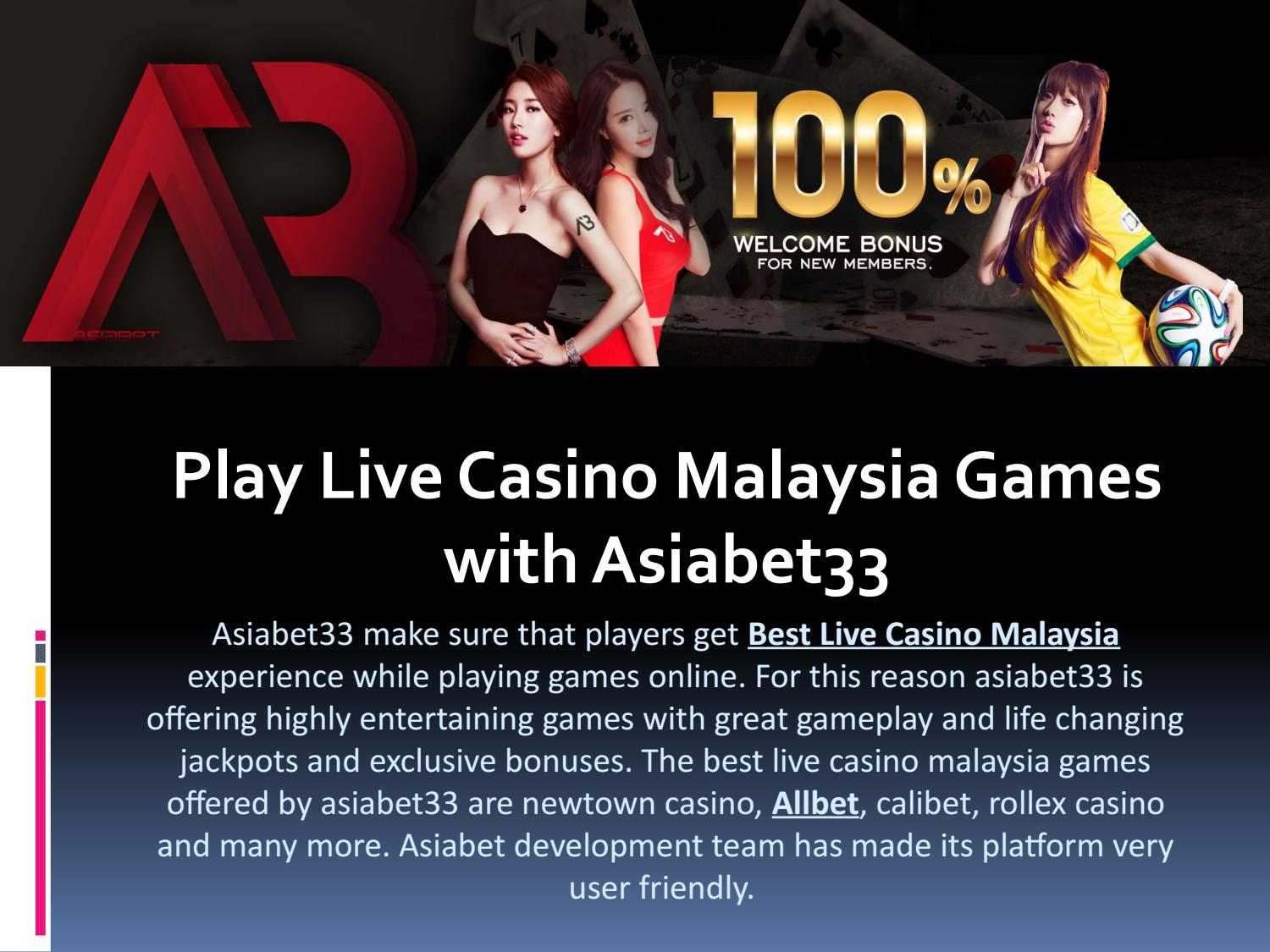 Play Live Casino Malaysia Games With Asiabet33 By Asiabet33 Issuu