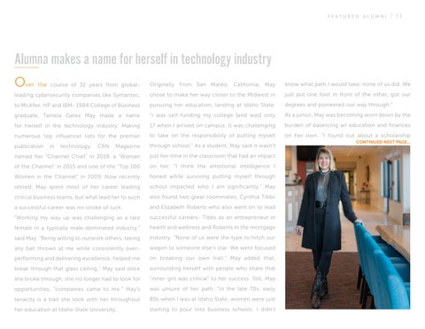 Page 11 of Alumna Makes a Name For Herself in Technology Industry