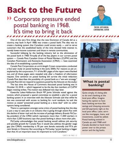Page 11 of POSTAL BANKING